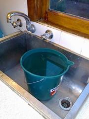 Bucket in the sink