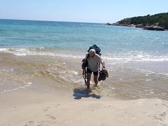 Plage d'Erbaghju : traversée de l'Ortolu