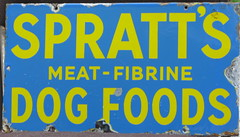 Spratt's dog food enamel advertising sign, c1920 (mikeyashworth) Tags: spratts enamelsign advertisngsign sprattsdogfood sprattspetfood mikeashworthcollection
