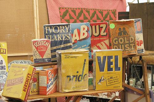 Zoar, Ohio Harvest Festival 2009:  Vintage Laundry Detergent Boxes