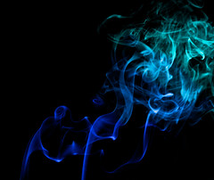 blue.2.oh (LuLuBellePhoto) Tags: blue abstract colors canon photography rebel 50mm colorful smoke gradient xti