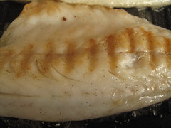 Vanilla scented panfried seabass