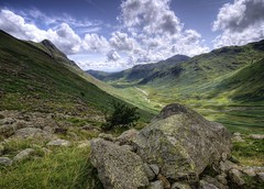 England: Cumbria - Pike of Stickle and Pike of Blisco (Tim Blessed) Tags: uk sky mountains nature clouds landscapes countryside scenery rocks hills cumbria lakedistrictnationalpark superaplus aplusphoto singlerawtonemapped alemdagqualityonlyclub