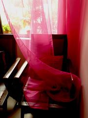 Morning blush (Wander_Blah) Tags: life morning pink light sunrise chair bright vivid curtains blush flickrchallengegroup