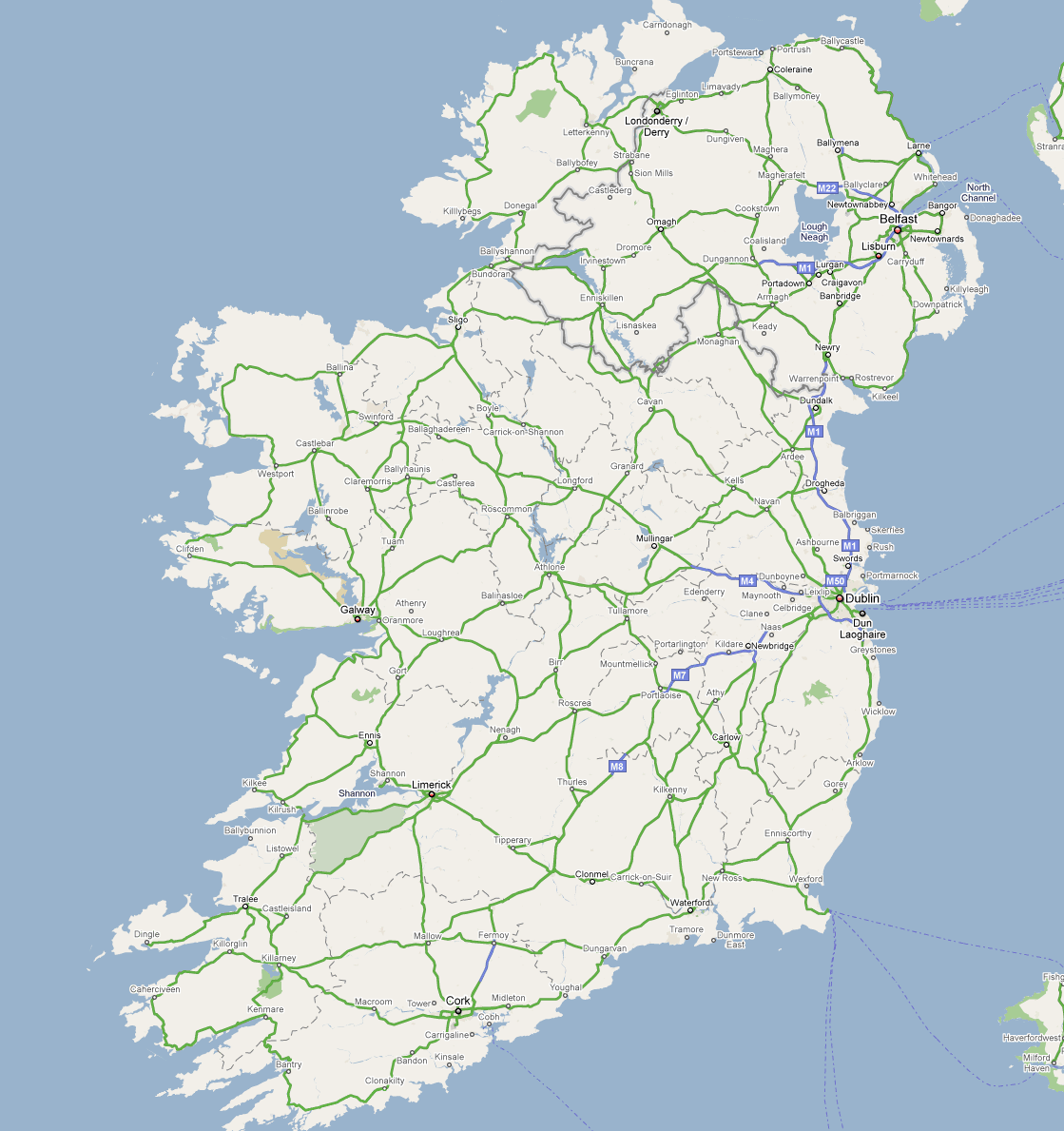Map Of Ireland Highways.Irl Ireland Road Infrastructure Motorways Page 19