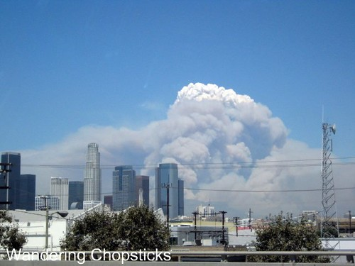Station Fire Over Downtown Los Angeles 4