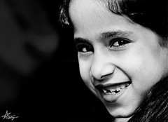 "delightful smile (""Anwaar) Tags: uk bw white black girl smile wales kid photographer united kingdom daisy kuwaiti delightful dema anwaar lifeinsevenpages"