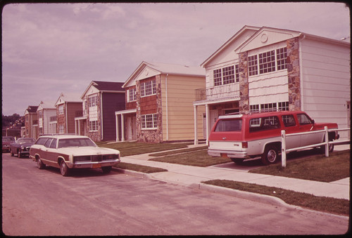 New Housing at Grant City, Staten Island-A Result of the Building Boom Following Completion of the Verrazano-Narrows Bridge 06/1973
