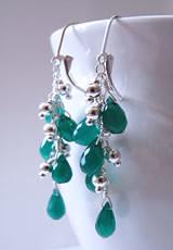 Green Harmony Earrings (Alison Kelley Designs) Tags: handmade jewelry earrings wirewrapped briolettes silverbeads leverbacks naturalharmony longdangle cccoeteam alisonkelleydesigns greenonyxbrio roundsterling sexyfunclassic