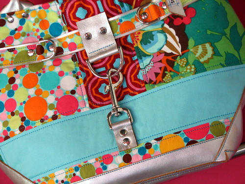 pieced satchel bag