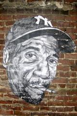 San Francisco - SoMa: Streetart (wallyg) Tags: sf sanfrancisco california streetart pasteup wheatpaste sanfranciscobayarea bayarea soma yankees southofmarket hughleeman kaplanlane kaplanln