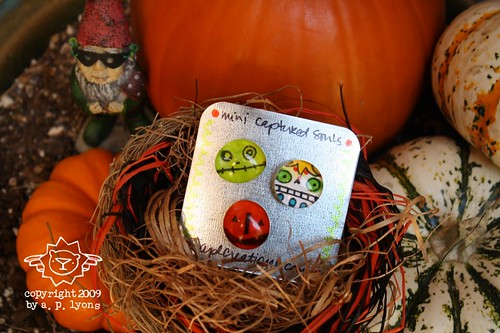 mini captured souls magnets - jol, zombie and sugar skull {set c}