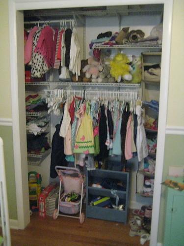 Roan's closet newly organized