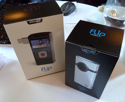 Boxes of the Flip Ultra HD & Mino HD