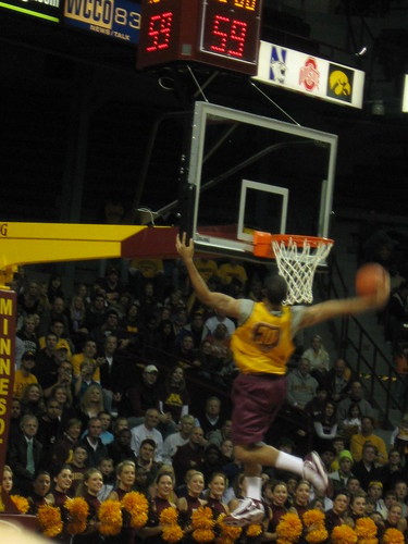 Royce White with the backboard assist