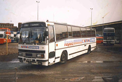 Yorkshire Traction Plaxton Paramount 3200 at Kingston Upon Hull EYMS park in 1989 (PerkinsPower) Tags: leland yorkshire tiger traction east hull 3200 paramount rapide plaxton eyms
