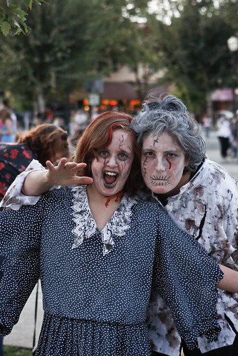 Zombie Grandmother and Granddaughter