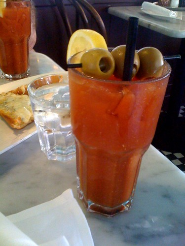 Bloody marys at calzones