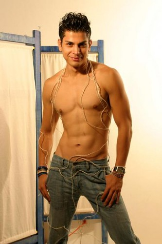 Mexican Hottie sexy latin shirtless muscle male model