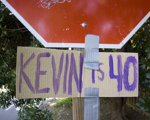 birthday sign kevin stopsign