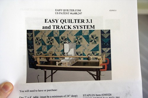 Easy Quilter 3 - definitely read the instructions