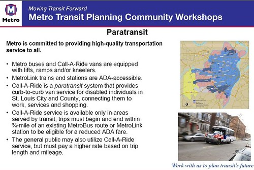 Paratransit slide, St. Louis Transit Planning process