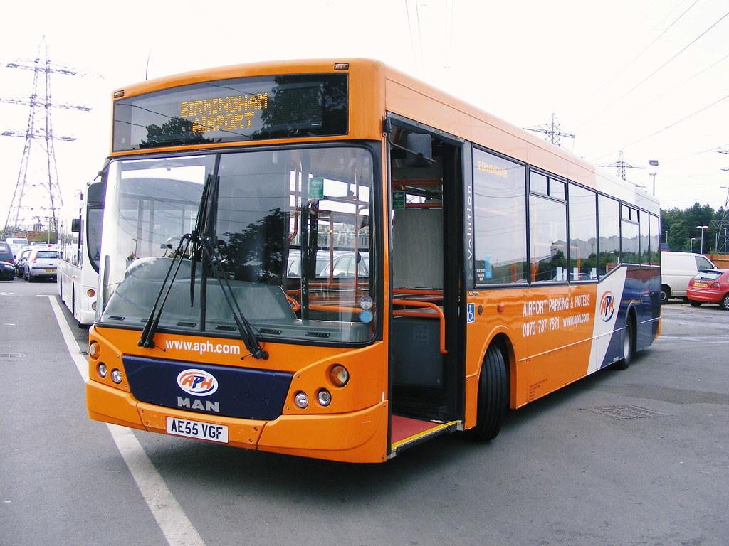 Birmingham Airport APH Car Parking Bus