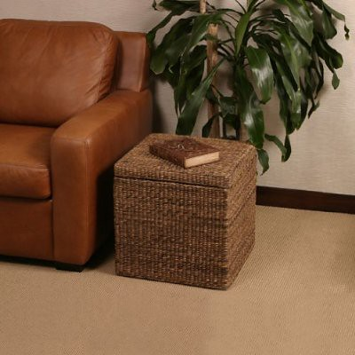 Seville Classics – Storage Ottoman with Mocha Finishing