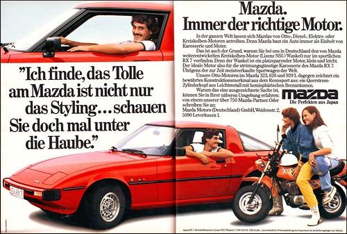 Mazda RX 7, Magazine Ad / Anzeige, AMS 1979