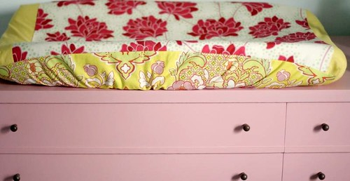 changing pad on the dresser