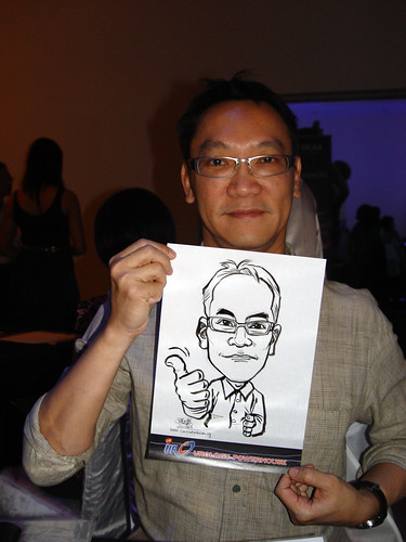 Caricature live sketching for GSK Urology Powerhouse -4