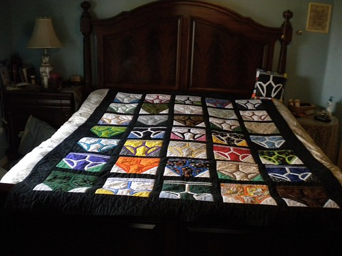 Y-Front Quilt on the bed