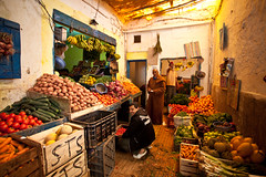 Morocco-090609-678 (Kelly Cheng) Tags: africa street travel people food man color colour male men heritage tourism vegetables shop daylight colorful day market culture vivid unesco morocco medina colourful persons bazaar essaouira traveldestinations
