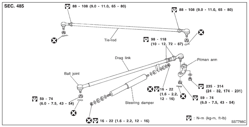 nissan patrol gu suspension diagram