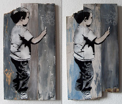 me-you=sad (l.e.t.) Tags: street boy streetart art colors print graffiti design artwork stencil sticker screenprint paint artist gallery contemporary kunst galerie exhibition pop spray popart silkscreen artshow ausstellung