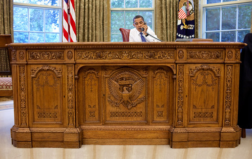 Obama in the Oval Office, Behind the Resolute Desk