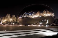 The Bean (-Passenger-) Tags: park chicago downtown nightshot millenium bean