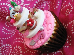 cuisine confections- cake and pastry selection cupcake (cherries and chives-zaheera badat) Tags: wedding party food black cakes cake forest dessert cuisine chocolate plate cheesecake cupcake slice scones crepes server confections fondant buttercream clair zaheera badat cherries chives