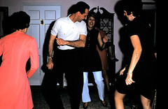 1969 color photo masculine man handsome hairy arms attractive dancing at party with women (Christian Montone) Tags: party hairy man men dance women arms dancing masculine 1960s poloshirt vintageimages vintagephotos partyphotos socialgatherings 1960sfashions