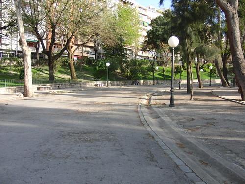 anatomía del parque de la victoria de jaén: curva del paseo de las bicicletas
