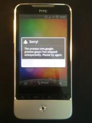 HTC Legend crashed