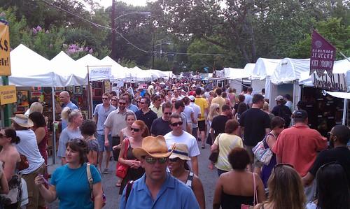 virginia highlands summerfest 2011. Virginia Highland Summerfest. Always crowded, even in the heat.