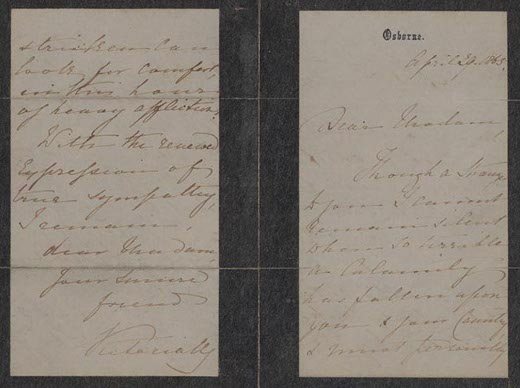 abraham lincoln letter of sympathy