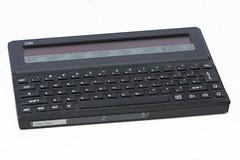 Cambridge Z88 - 3 (hairydalek) Tags: old cambridge black heritage history vintage computer keys portable laptop pda rubber retro 80s historical 8bit 1980s clive sinclair z88