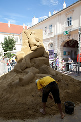 photoset: Museumsquartier: World Sand Sculpting Academy (21.6.2011)