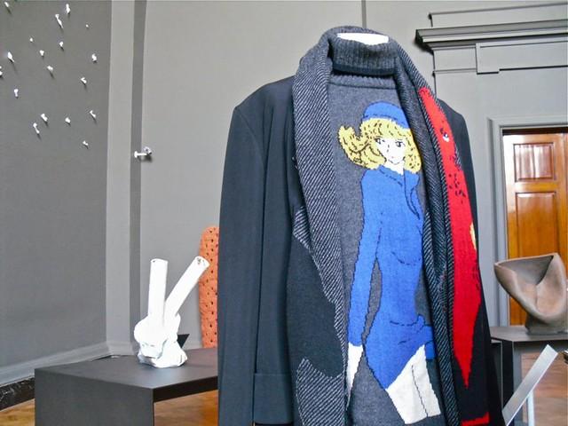 anime print knitwear