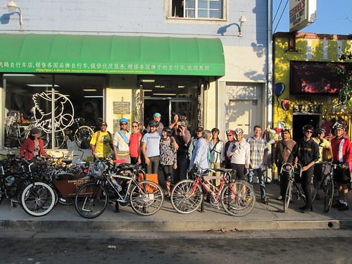 2011 LA Streetsblog fundraiser at Flying Pigeon LA bike shop