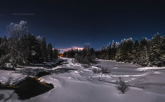 Moonlight night (M.T.L Photography) Tags: landscape panorama night winter water trees nordic dramatic smooth finland kiiminkijoki riverkiiminkijoki nikond810 mtlphotography nikkor1424 snow mikkoleinonen moonlight fullmoon