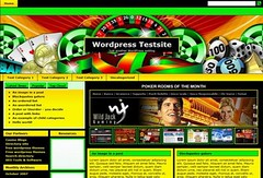 Free Wordpress Casino Green Web2.0 Template