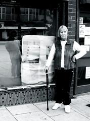 Laundry Lady: Lincoln Green Shopping Centre, Leeds (James W Bell (Good Honest Iago) - Leeds) Tags: blackandwhite bw photography leeds flats highrise housing innercity grayscale brutalism towerblock deprivation councilestate towerblocks councilflats socialhousing midcenturyhousing deprivedarea